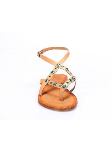 İnci Sandalet Turkuaz